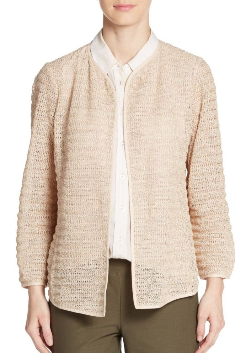 Eileen Fisher Corded Zigzag Knit Jacket