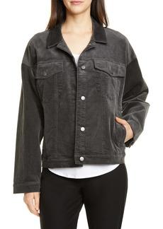 Eileen Fisher Cotton Blend Corduroy Trucker Jacket
