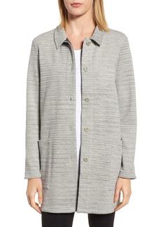 Eileen Fisher Cotton Blend Tweed Jacket