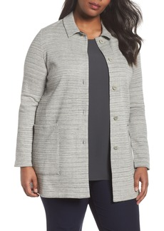 Eileen Fisher Cotton Blend Tweed Jacket (Plus Size)