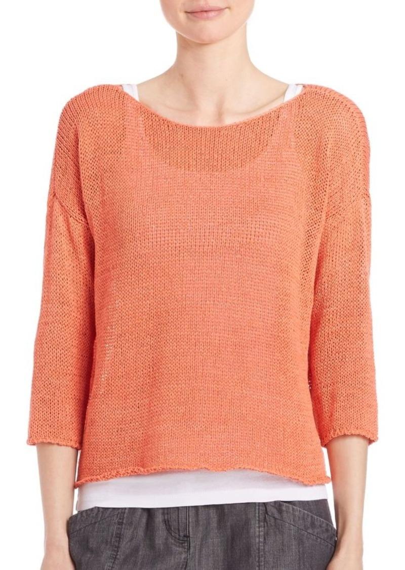 Eileen Fisher Cotton Boatneck Sweater