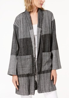 Eileen Fisher Cotton Colorblocked Jacket