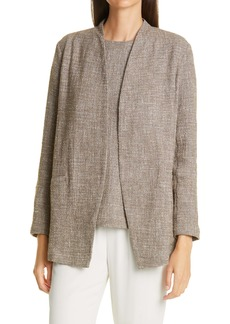 Eileen Fisher Cotton Slub Tweed Jacket