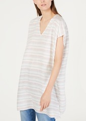 Eileen Fisher Cotton Striped Caftan Top