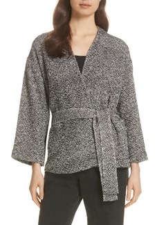 Eileen Fisher Cotton Tweed Kimono Jacket (Regular & Petite)