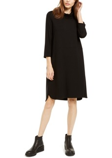 Eileen Fisher Cowlneck Shift Dress, Regular & Petite - Created for Macy's