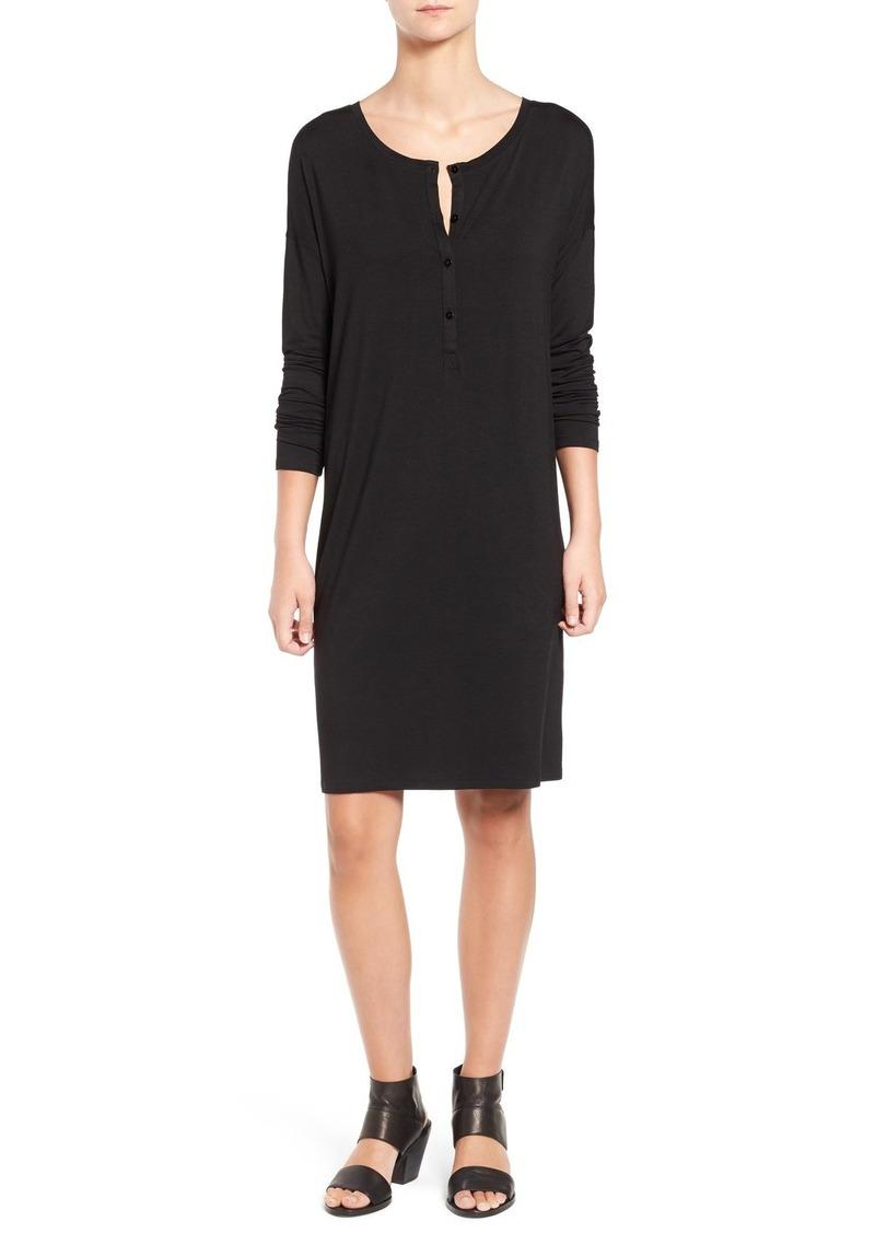 Eileen Fisher Cozy Jersey Henley Dress