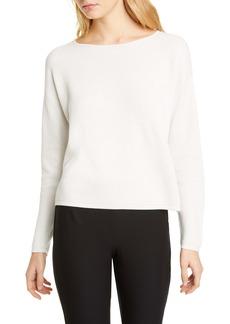 Eileen Fisher Crewneck Asymmetrical Silk Top