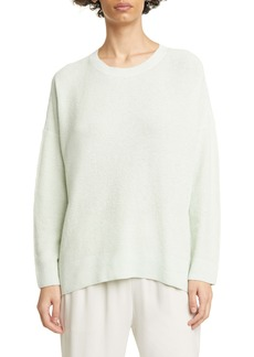 Eileen Fisher Crewneck Box Top Organic Linen Blend Sweater