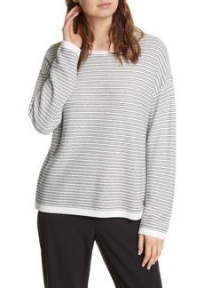 Eileen Fisher Crewneck Organic Cotton Blend Sweater (Regular & Petite)
