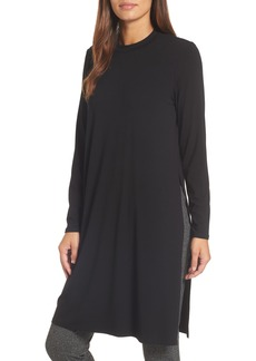 Eileen Fisher Crewneck Stretch Knit Caftan