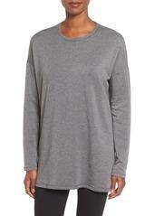 Eileen Fisher Crewneck Stretch Tencel® Lyocell Fleece Top