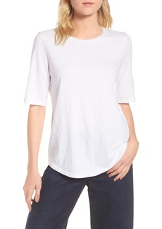 Eileen Fisher Elbow Sleeve Tee (Petite)