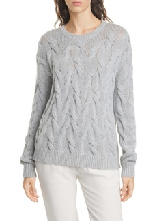Eileen Fisher Crewneck Wool Blend Sweater