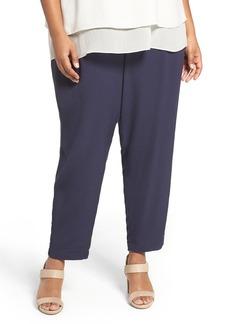 Eileen Fisher Crinkle Crepe Slim Ankle Pants (Plus Size)