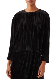 Eileen Fisher Crinkle Velvet Box Top