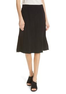 Eileen Fisher Crinkled Organic Cotton Skirt (Regular & Petite)