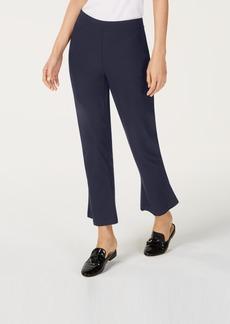 Eileen Fisher Crop-Flare Washable Crepe Pants, Regular & Petite