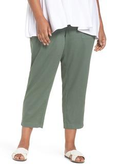 Eileen Fisher Crop Organic Cotton Pants (Plus Size)