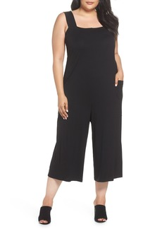 Eileen Fisher Crop Pinafore Jumpsuit (Plus Size)