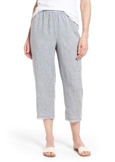Eileen Fisher Crop Straight Leg Linen Pants