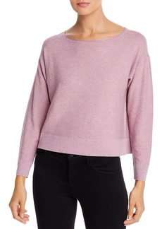 Eileen Fisher Cropped Boat Neck Sweater