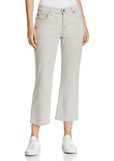 Eileen Fisher Cropped Bootcut Jeans in Sun Bleached Gray