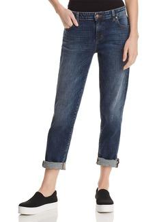 Eileen Fisher Cropped Boyfriend Jeans in Aged Indigo