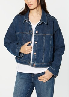 Eileen Fisher Cropped Denim Jacket, Regular & Petite