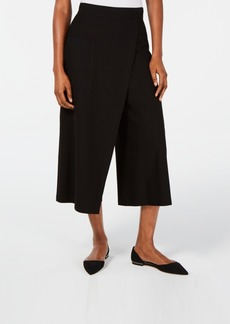 Eileen Fisher Cropped Faux-Wrap Pants