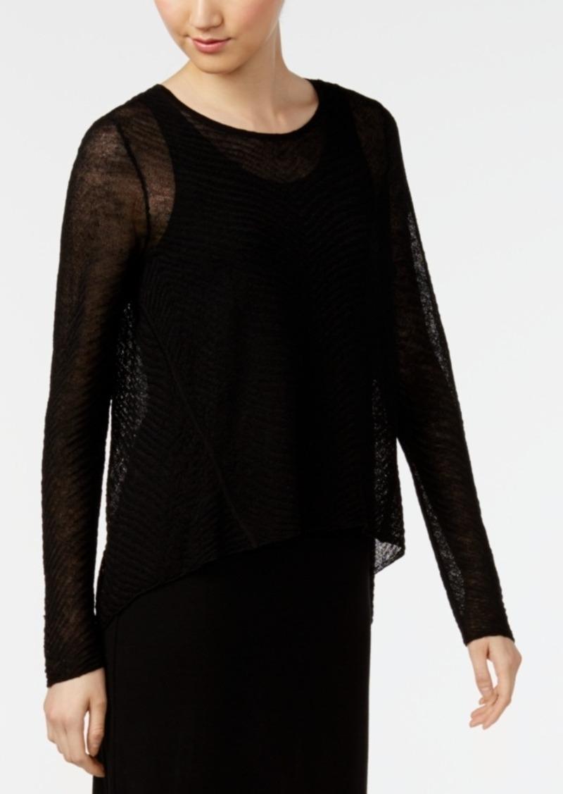 Eileen Fisher Eileen Fisher Cropped High-Low Sweater, Regular ...