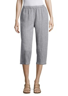 Eileen Fisher Cropped Organic Linen Pants