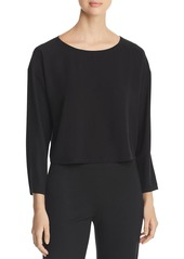 Eileen Fisher Cropped Silk Top