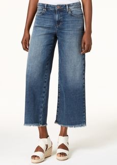 Eileen Fisher Organic Cotton Cropped Wide-Leg Jeans