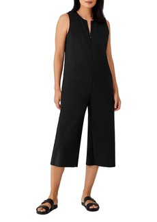 Eileen Fisher Cropped Wide Leg Jumpsuit