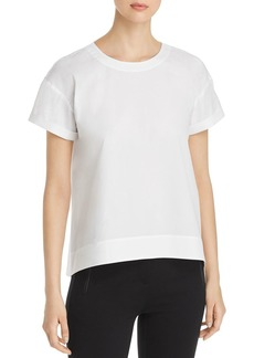 Eileen Fisher Cuffed Short-Sleeve Top