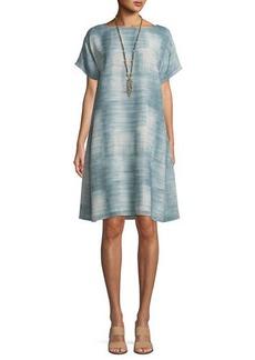 Eileen Fisher Daze Short-Sleeve Printed Silk Dress