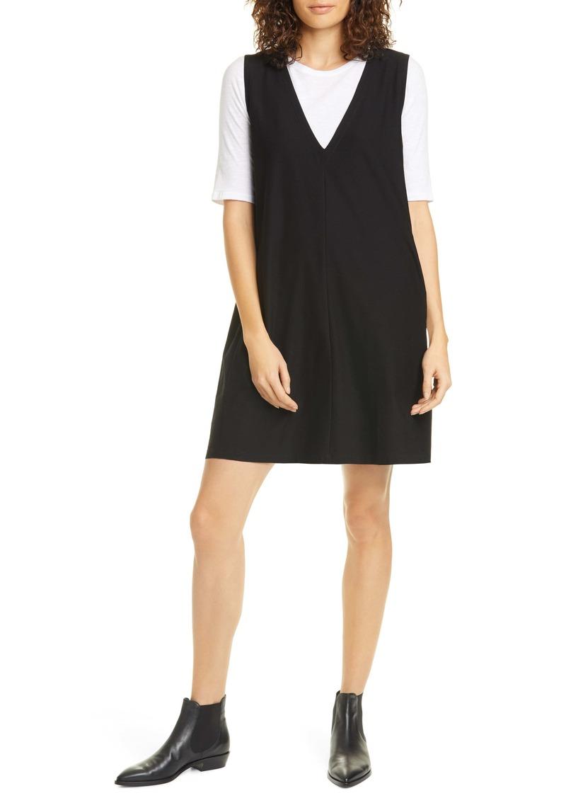 Eileen Fisher Deep V-Neck Shift Dress