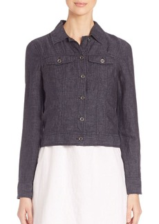 Eileen Fisher Delave Cropped Jacket