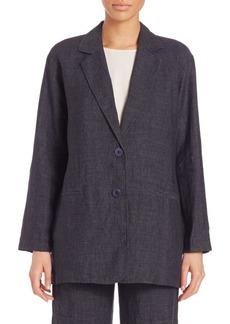 Eileen Fisher Delave Oversized Linen Blazer