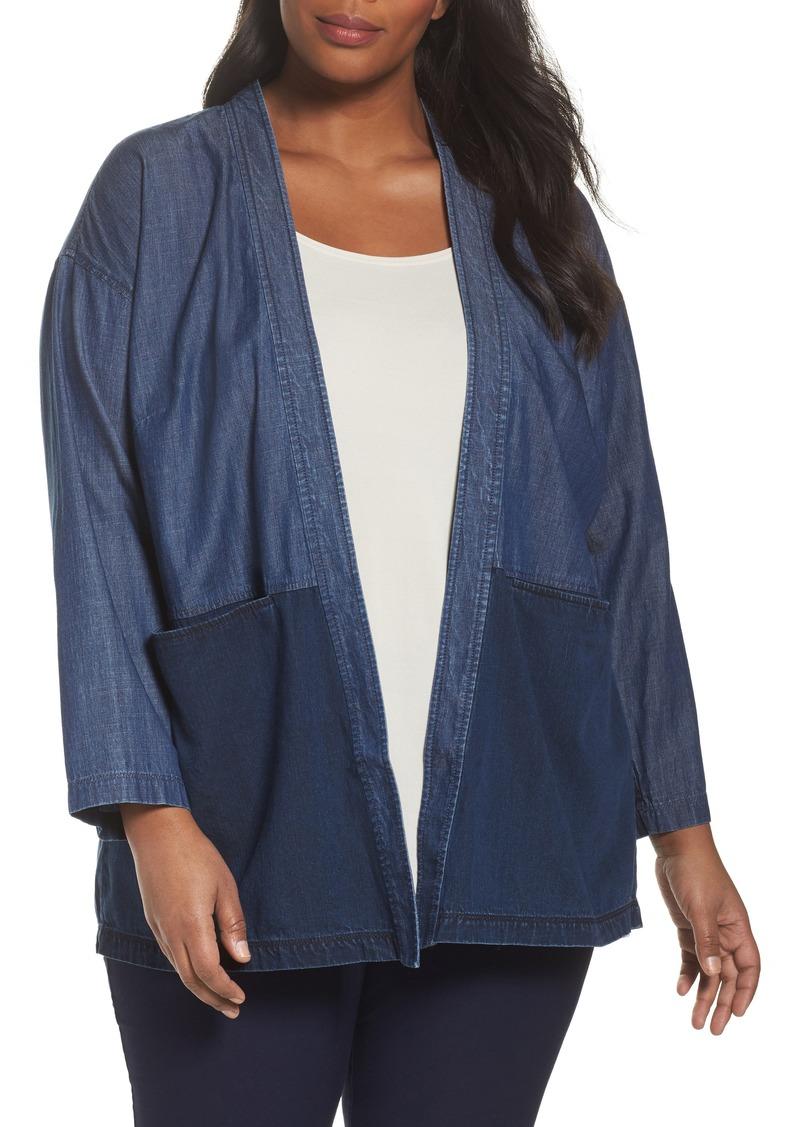 686445f8e0b Eileen Fisher Eileen Fisher Denim Kimono Jacket (Plus Size) Now  172.86