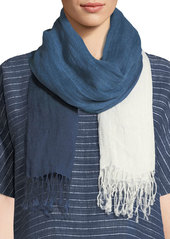 Eileen Fisher Denim Ombré Linen Scarf