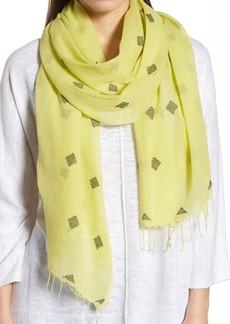 Eileen Fisher Diamond Weave Organic Cotton Scarf