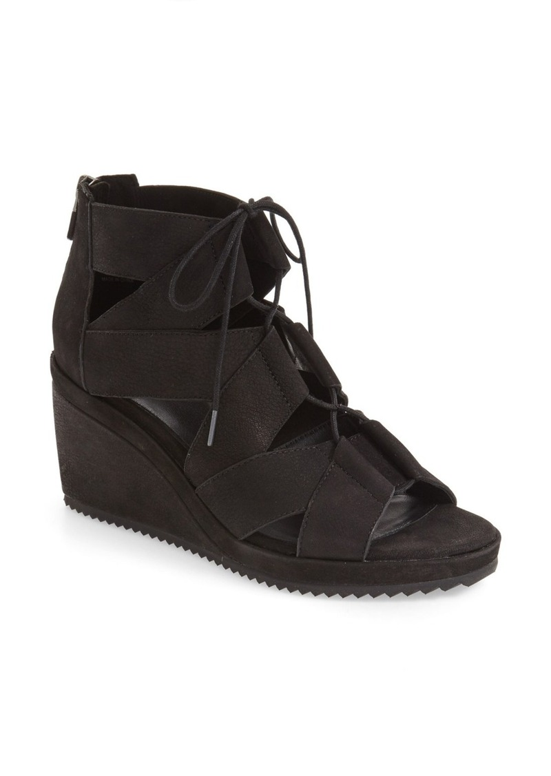Eileen Fisher 'Dibs' Lace-Up Wedge (Women)