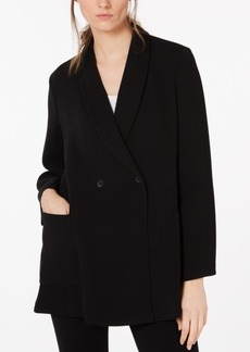 Eileen Fisher Double Breasted Textured Blazer