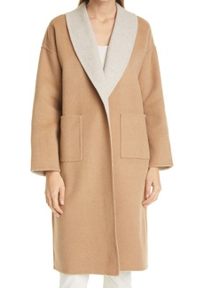 Eileen Fisher Double Face Wool & Cashmere Coat