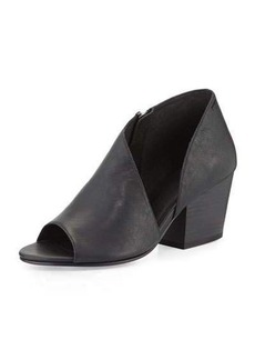 Eileen Fisher Drake Asymmetric Open-Toe Bootie