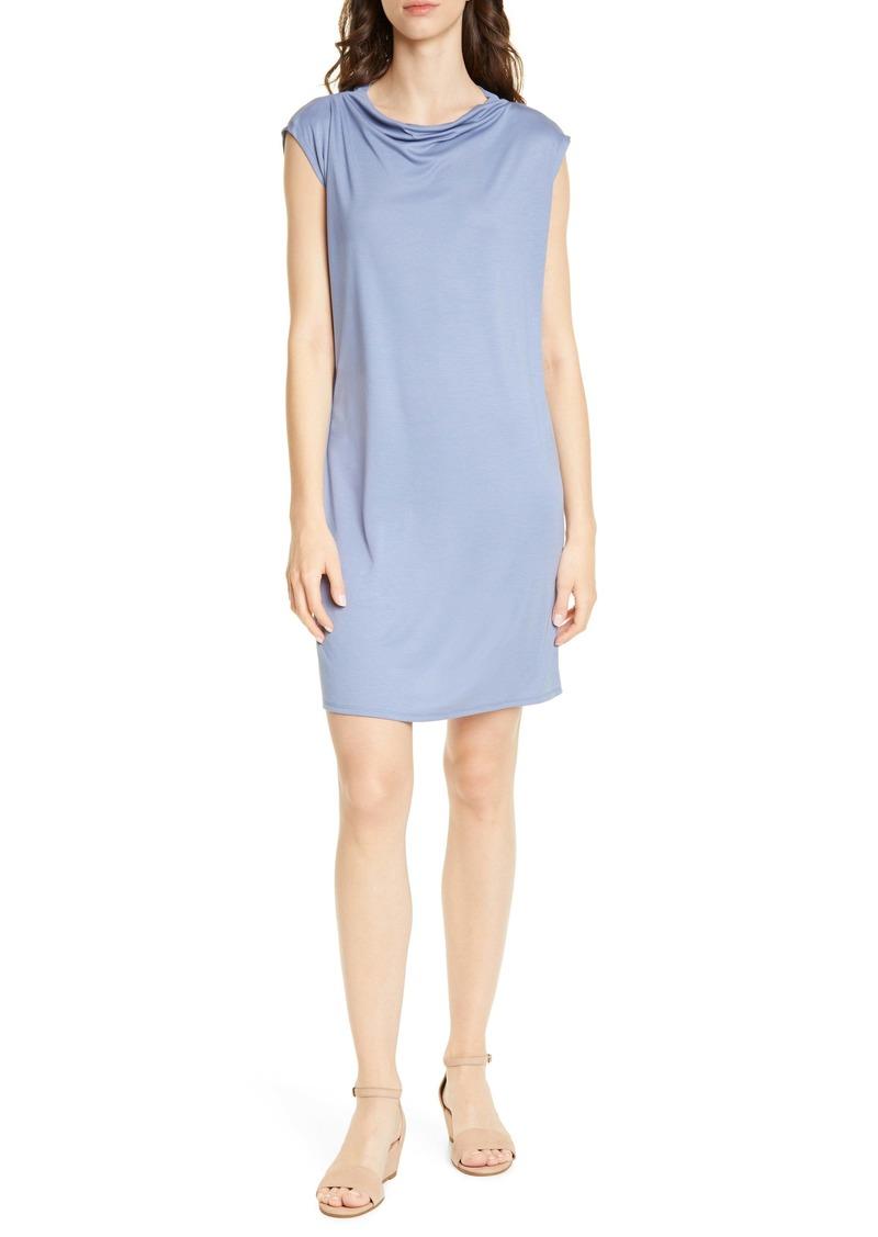 Eileen Fisher Drape Neck Shift Dress