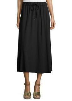 Eileen Fisher Drawstring A-line Jersey Skirt