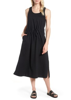 Eileen Fisher Drawstring Organic Cotton Midi Dress (Regular & Petite)